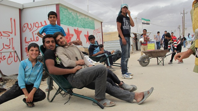 Jóvenes sirios en el campo de refugiados de Zaatari, Mayo de 2013